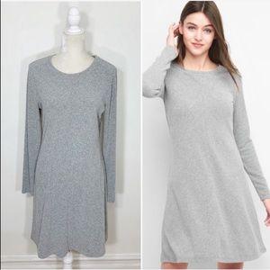 GAP long sleeve A line swing knit dress
